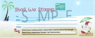 Sample Gift Cert