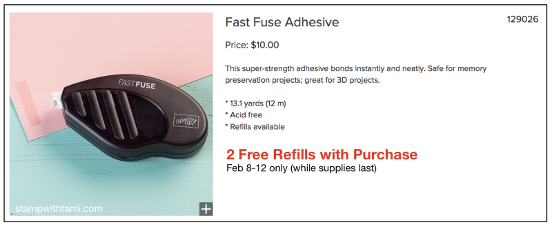 Stampin-up-fast-fuse-adhesive-on-sale