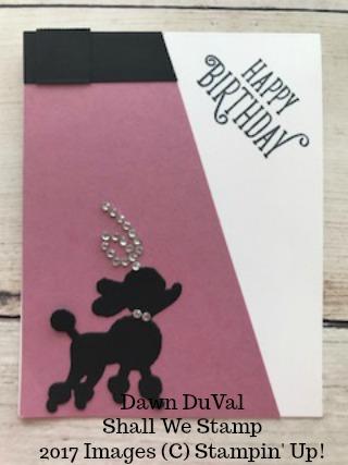 Poodle dog card